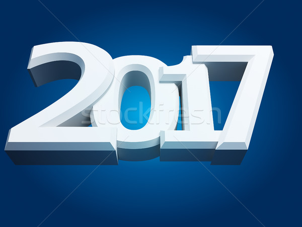New Year sign 2017 Stock photo © kash76