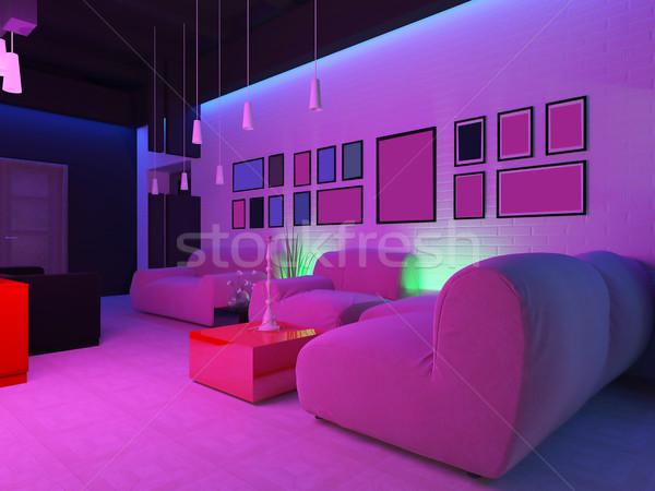 Luogo relax discoteca 3D legno Foto d'archivio © kash76