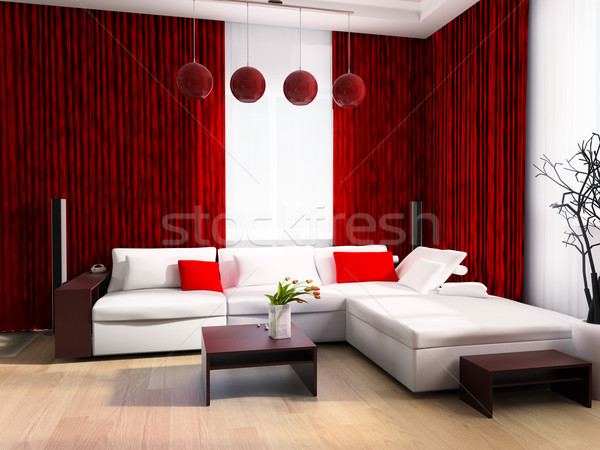 Modern drawing room Stock photo © kash76
