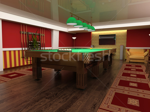 billiard table Stock photo © kash76
