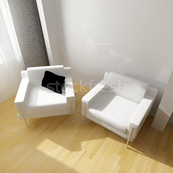 Zdjęcia stock: Biały · rysunek · pokój · nowoczesne · 3D · obraz