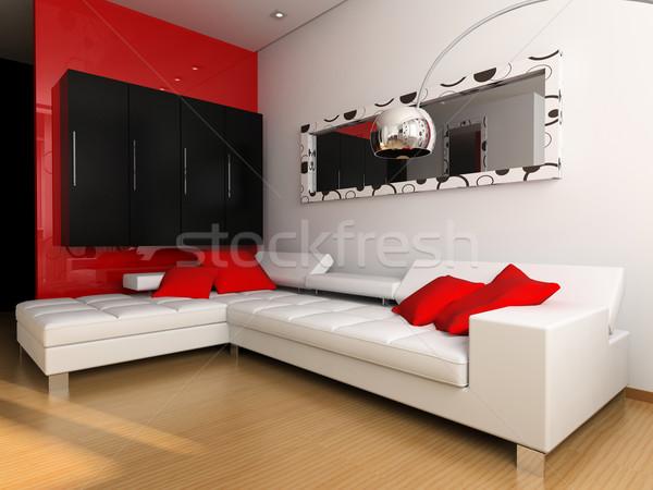 Bianco divano luogo appartamento città abstract Foto d'archivio © kash76