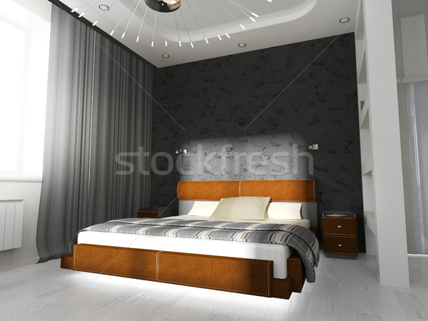 Chambre contemporain style construction mode design Photo stock © kash76