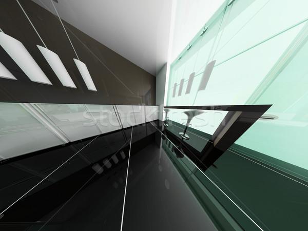 Reception hotel sala 3D immagine luce Foto d'archivio © kash76