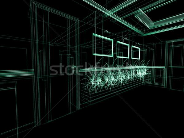 Dipinti muro stanza 3D design Foto d'archivio © kash76