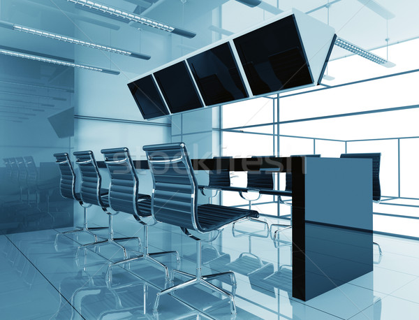 Chambre négociation bureau 3D image ville Photo stock © kash76