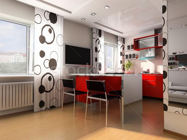 Moderno cucina home 3D immagine luce Foto d'archivio © kash76