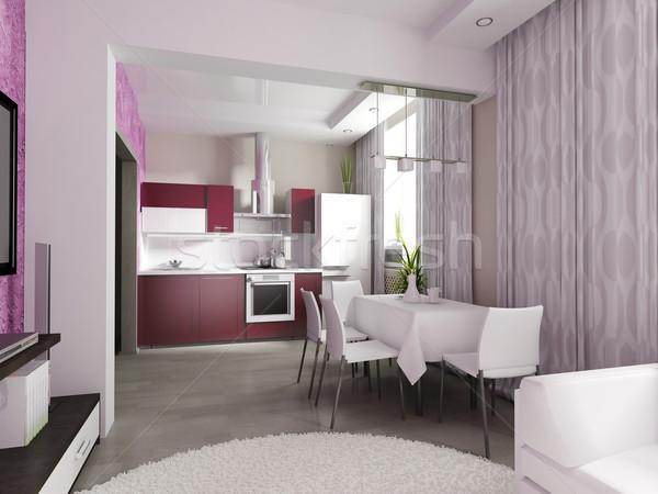 Stock photo: modern domestic Kitchen