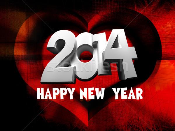 Happy New Year 2014 Stock photo © kash76