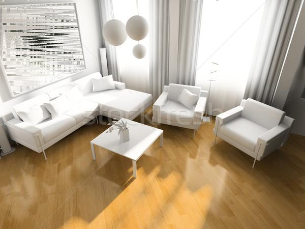 Fény szoba modern exkluzív terv város Stock fotó © kash76