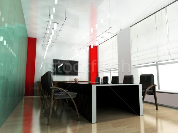 現代 ルーム 会議 3dのレンダリング ビジネス 会議 ストックフォト © kash76