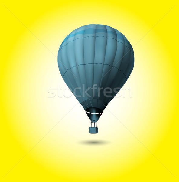 Hot air balloon flying at sunrise Stock photo © kash76
