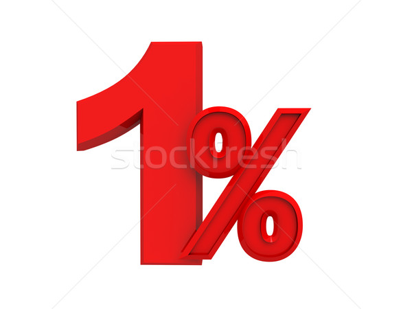 red sign 1 percent Stock photo © kash76