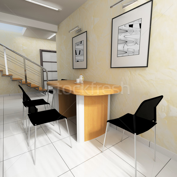 dining area in a modern office Stock photo © kash76