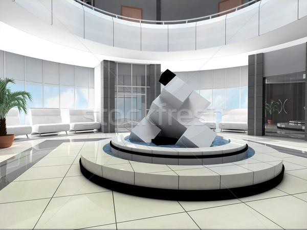 Sala hotel scultura ufficio casa città Foto d'archivio © kash76