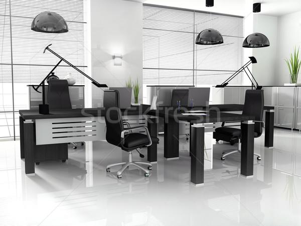 Ufficio interni nuovo moderno 3D Foto d'archivio © kash76