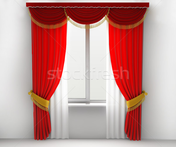 Red curtains Stock photo © kash76