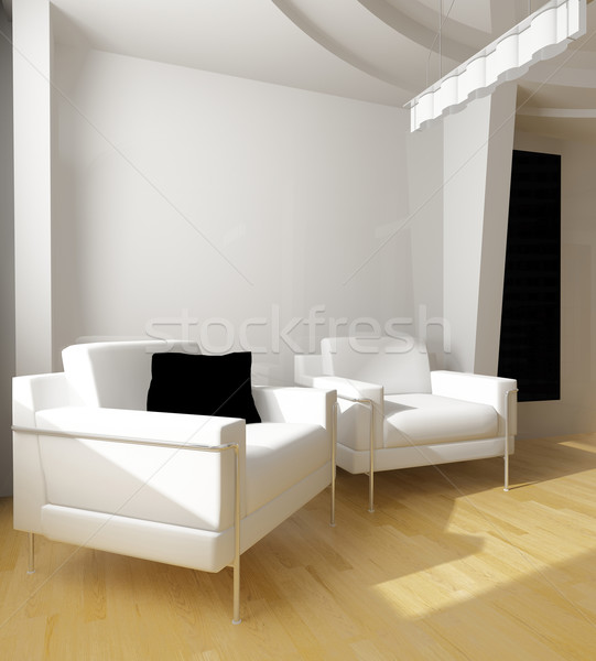 white drawing room Stock photo © kash76
