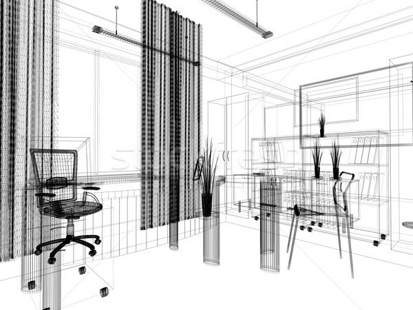 Moderno ufficio interni stile moderno 3D Foto d'archivio © kash76