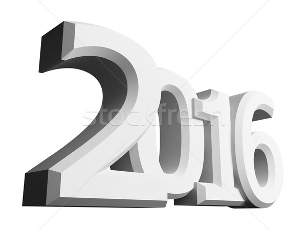 Figures 2016 on an white background Stock photo © kash76