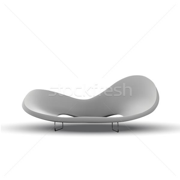 Bianco divano vettore 10 eps business Foto d'archivio © kash76