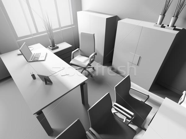 Modernes intérieur bureau 3D image design Photo stock © kash76