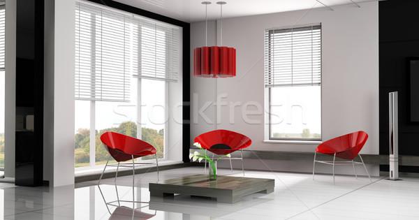 Luogo ufficio appartamento 3D immagine business Foto d'archivio © kash76