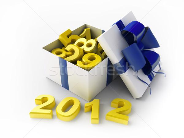 Bianco regalo 2012 scatola regalo 3D Foto d'archivio © kash76