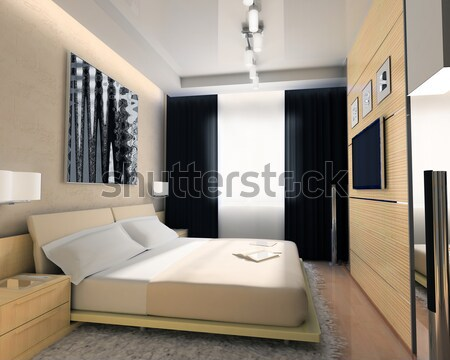 White furniture in modern interior Stock photo © kash76