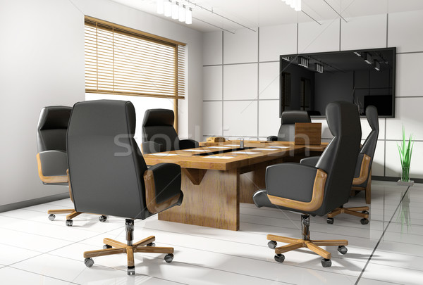 Room of negotiation in office Stock photo © kash76