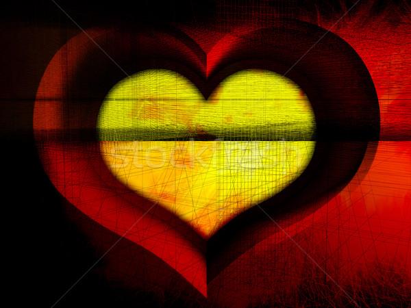 Rosso cuore stock immagine amore bellezza Foto d'archivio © kash76
