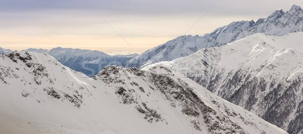Beautiful view from Grossglockner-Heiligenblut ski resort  Stock photo © kasjato