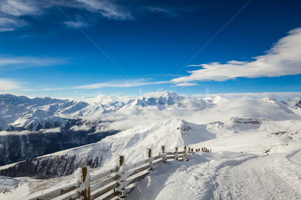 Heiligenblut ski resort in austrian Alps, View at the Grossglockner mountain  Stock photo © kasjato