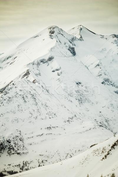 Gyönyörű tél tájkép Alpok égbolt béke Stock fotó © kasjato