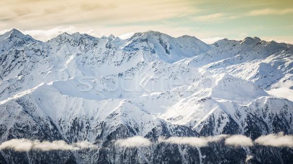 Beautiful winter landscape in one of most famous ski resort in austrian Alps Stock photo © kasjato