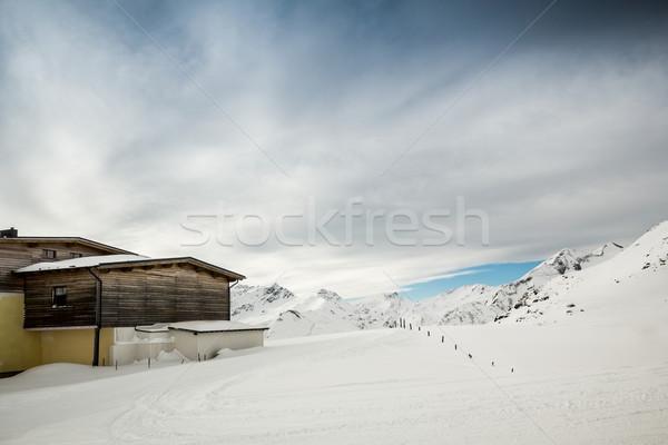 Mountain shelter Stock photo © kasjato