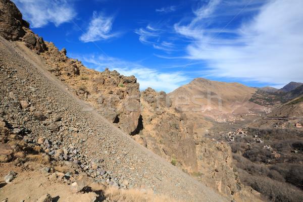 Atlas góry górskich spaceru turystyka Zdjęcia stock © katya_sorokopudo