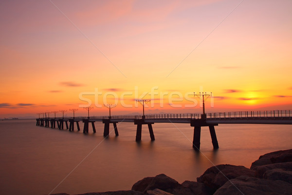 Sunset at coast of the sea Stock photo © kawing921