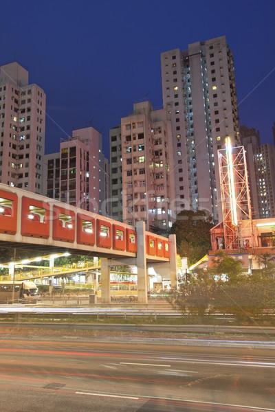 ストックフォト: トラフィック · 香港 · 1泊 · ビジネス · 光 · 橋