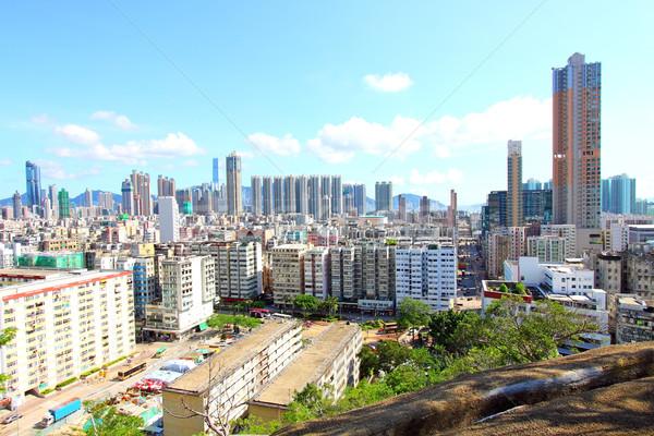Hong Kong downtown at daytime Stock photo © kawing921