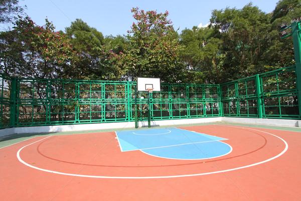 Boisko do koszykówki streszczenie widoku zdrowia tle zabawy Zdjęcia stock © kawing921