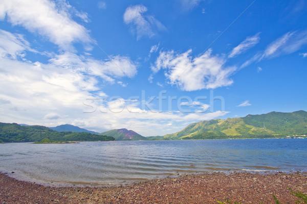 Mar montanha paisagem fundo verão oceano Foto stock © kawing921
