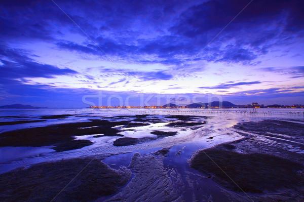 Sunset in Hong Kong at dusk Stock photo © kawing921