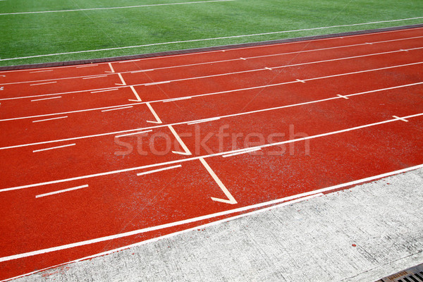 Running track in abstract view Stock photo © kawing921