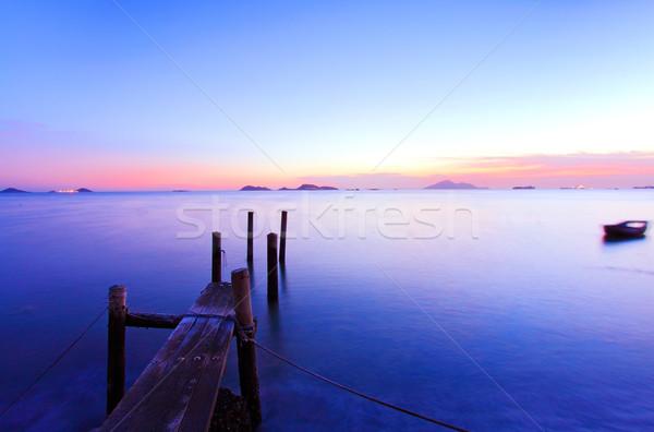Wygaśnięcia molo magic godzina świetle Zdjęcia stock © kawing921