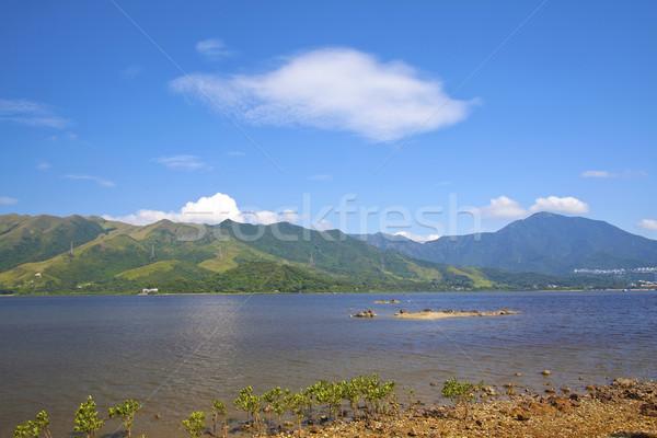 Sea coast landscape in Hong Kong Stock photo © kawing921
