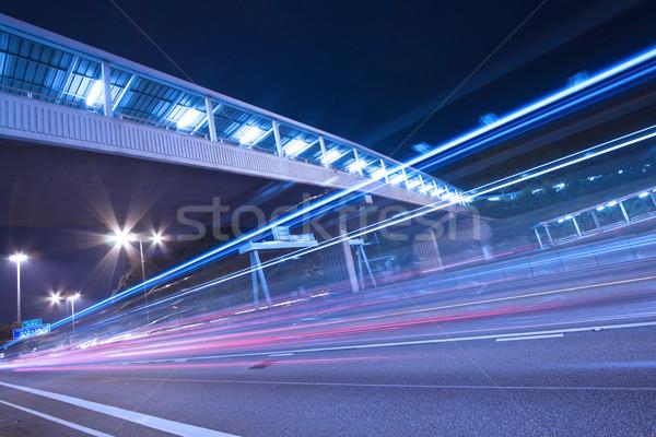 Zajęty ruchu Night City niebo biuro drogowego Zdjęcia stock © kawing921