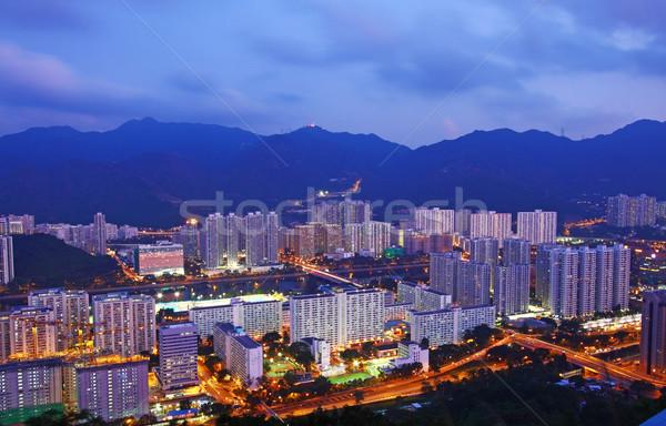 Hong Kong apartments at night Stock photo © kawing921