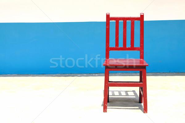 Eenzaam stoel heldere home ruimte kamer Stockfoto © kawing921