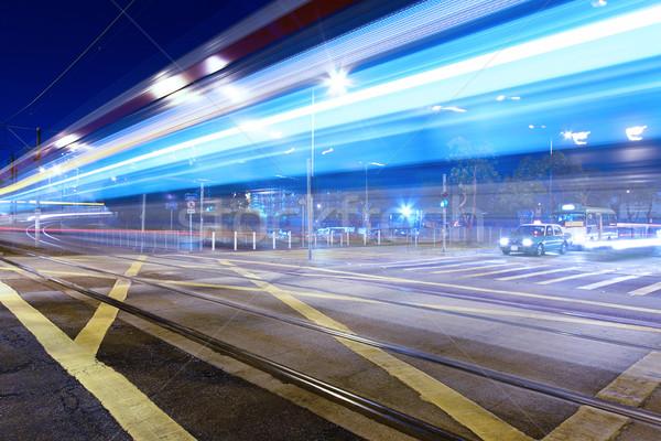 ışık ray bir taşımacılık Hong Kong gece Stok fotoğraf © kawing921